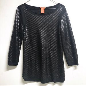 Joe Fresh Black Sequin top size Small